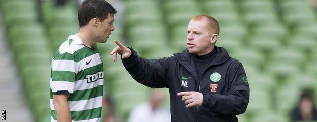 Former Celtic defender Darren O'Dea and former Celtic manager Neil Lennon