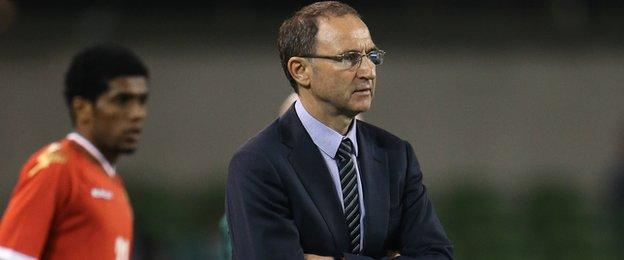 Republic boss Martin O'Neill watches his team ease to victory in Dublin
