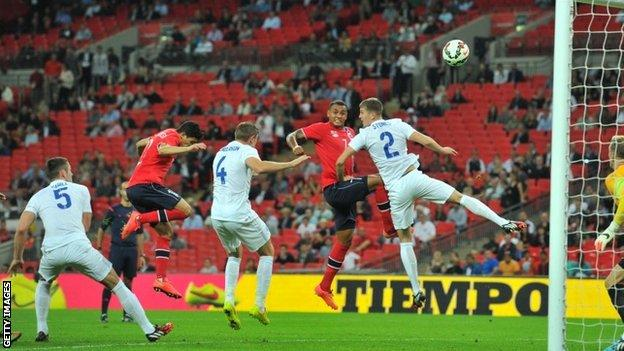 England v Norway - empty seats
