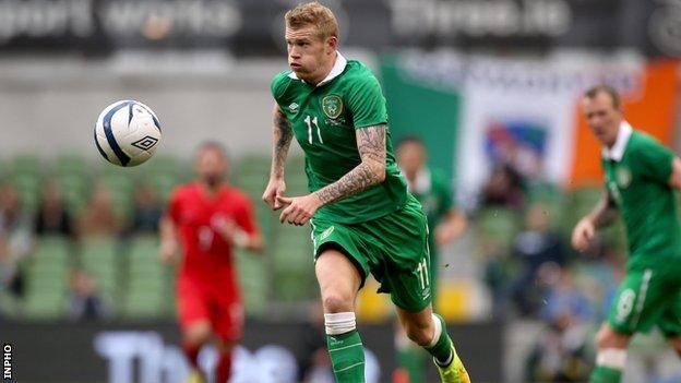 James McClean out of Republic of Ireland's Euro opener against Georgia