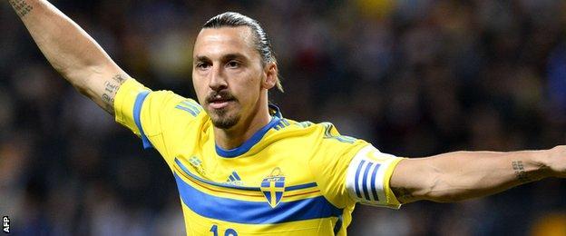 Sweden striker Zlatan Ibrahimovic