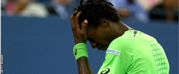 Gael Monfils at the US Open