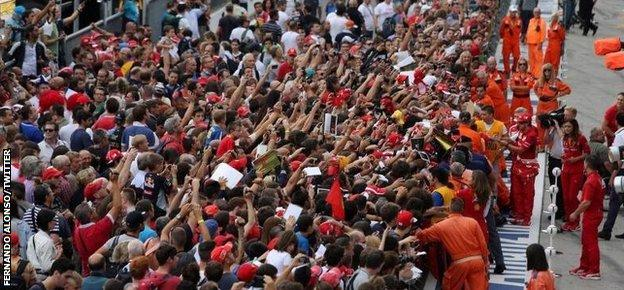 Crowds at Monza