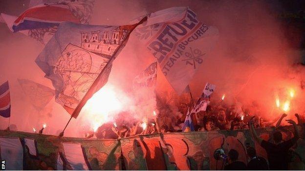 Steaua Bucharest fans