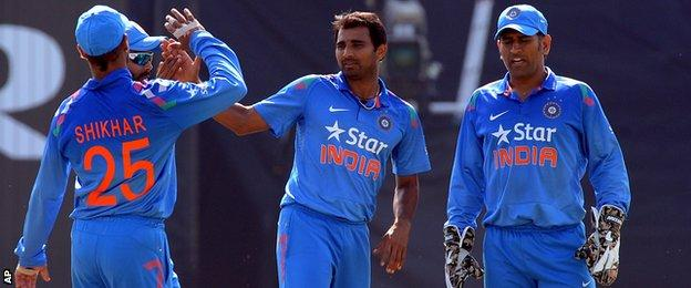 Mohammed Shami was India's best bowler, taking the wickets of Joe Root and Chris Woakes