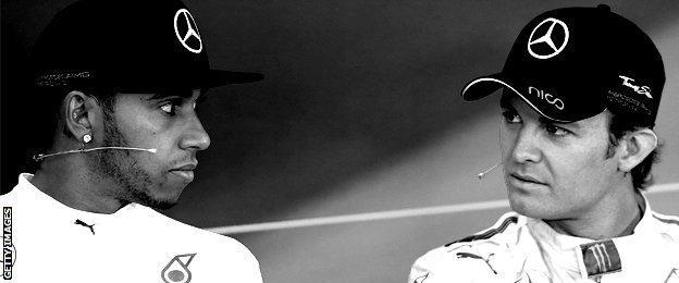 Rosberg and Hamilton