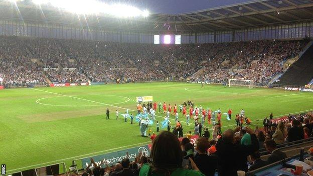 Coventry City had a crowd of 27,306 at the Ricoh Arena
