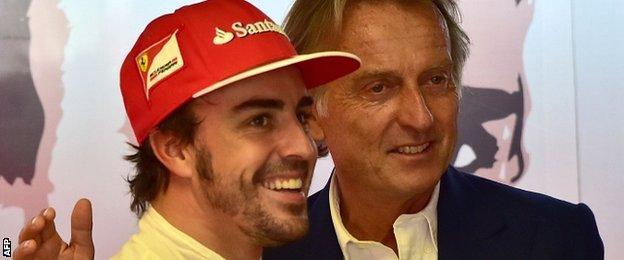 Fernando Alonso (left) and Luca Di Montezemolo