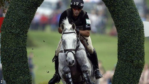Andrew Nicholson on Avebury at the Burghley Horse Trials