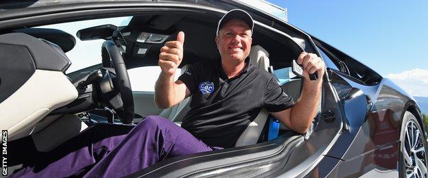 Graeme Storm in his new car