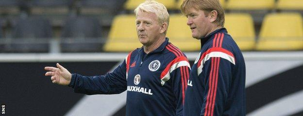 Gordon Strachan and Stuart McCall (right)
