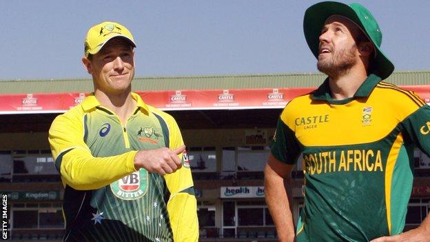 George Bailey and South Africa one-day skipper AB de Villiers