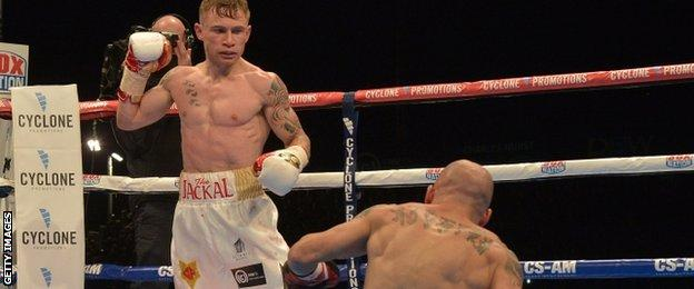 Frampton floored Martinez in the fifth round