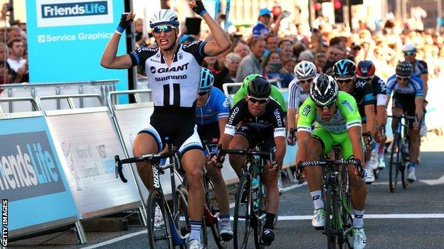 Marcel Kittel wins Tour of Britain opening stage
