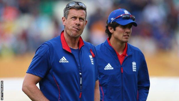 Former England limited-overs coach Ashley Giles (left) and Alistair Cook
