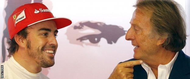 Fernando Alonso and Luca Di Montezemolo