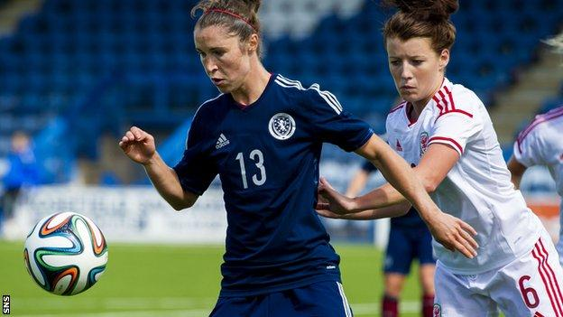 Jane Ross in action against Poland
