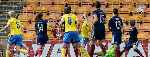 Kosovare Asllani nets for Sweden as they run out 3-1 winners over Scotland at Fir Park