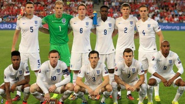 England team to face Switzerland