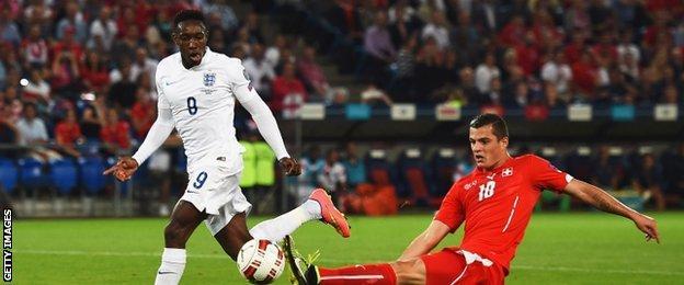 England forward Danny Welbeck
