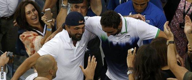 Marin Cilic celebrates