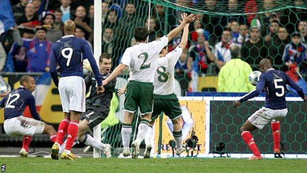 Thierry Henry handballed before crossing for William Gallas to score against the Republic of Ireland in a World Cup play-off in 2009