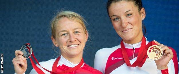 Emma Pooley and Lizzie Armistead