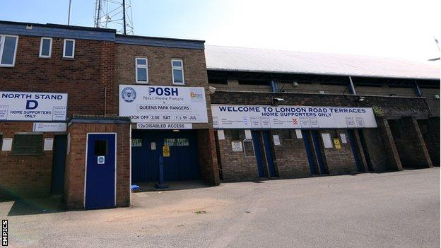Peterborough United's London Road End