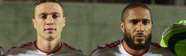 James Chester and Ashley Williams