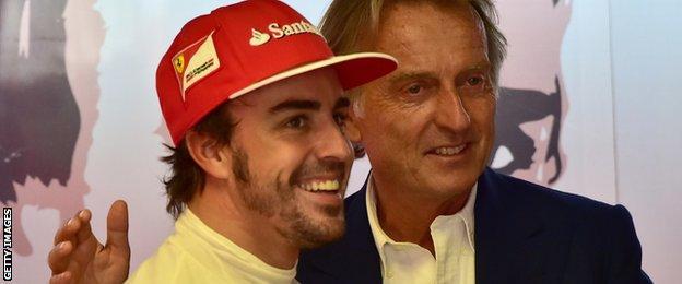 Luca Di Montezemolo and Fernando Alonso