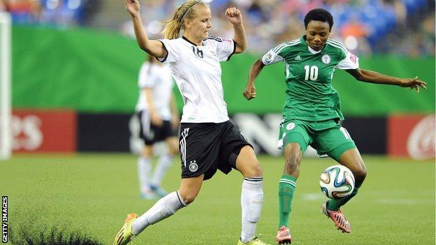 Synthetic turf was used at the Women's Under-20 World Cup