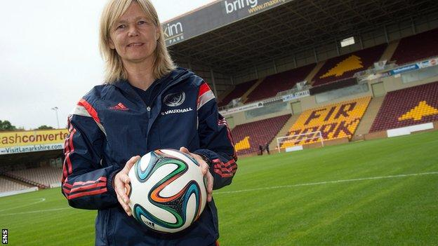 Scotland women's head coach Anna Signeul