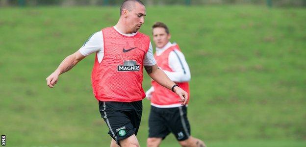 Celtic Captain Scott Brown in training