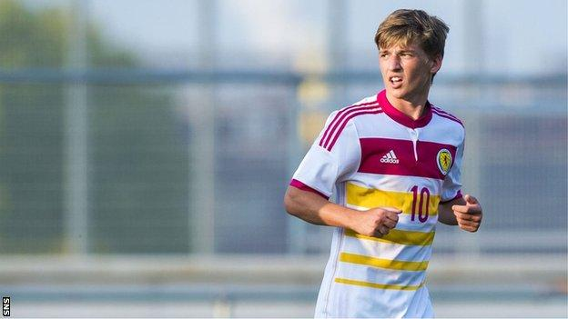 Ryan Gauld scored twice for Scotland's Under-21s against Luxembourg