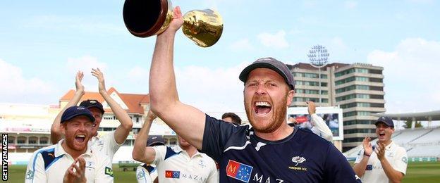 Yorkshire celebrate title win
