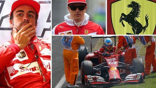 Ferrari's Fernando Alonso (left) and Kimi Raikkonen