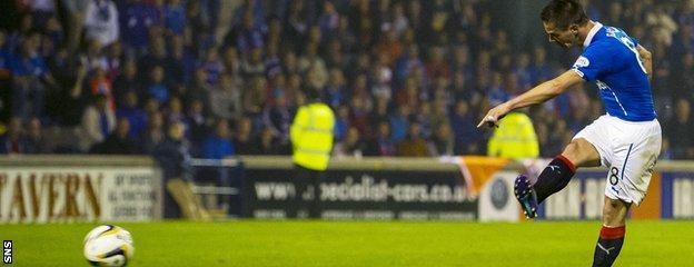 Ian Black scores for Rangers