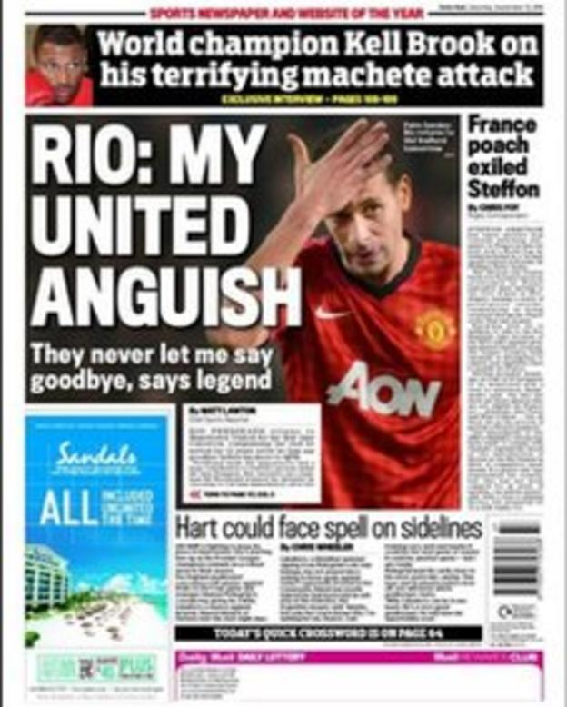 Saturday's Daily Mail back page