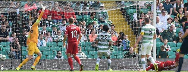 David Goodwillie scores for Aberdeen