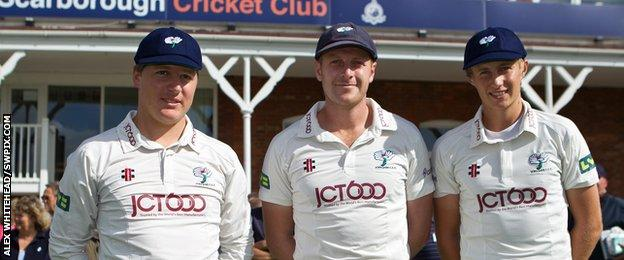 Gary Ballance, Andrew Gale and Joe Root