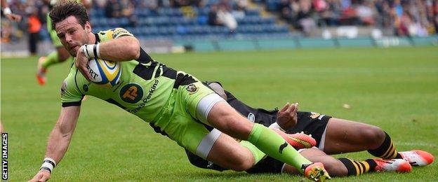 Ben Foden scores for Northampton