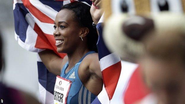 British 100m hurdler Tiffany Porter
