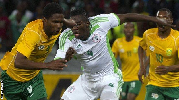 Nigeria in action against South Africa