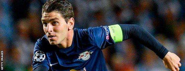 Salzburg's Spanish striker Jonathan Soriano