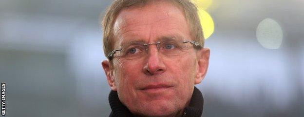 Ex-Hoffenheim and Schalke coach Ralf Rangnick is now sporting director at Salzburg