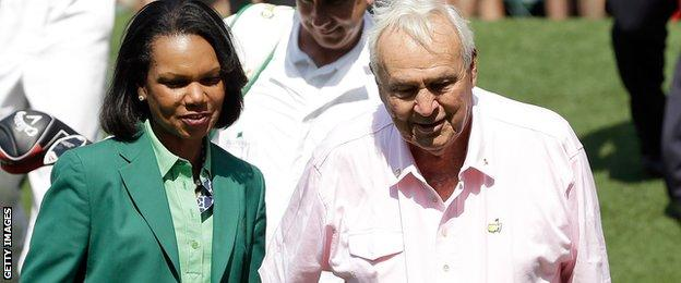 Condoleezza Rice and Arnold Palmer