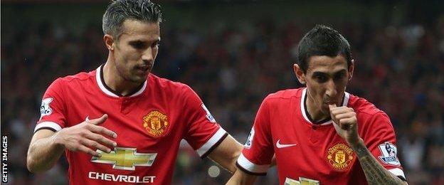 Robin van Persie, Angel Di Maria of Manchester United