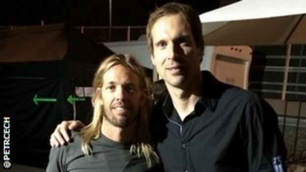 Taylor Hawkins and Petr Cech