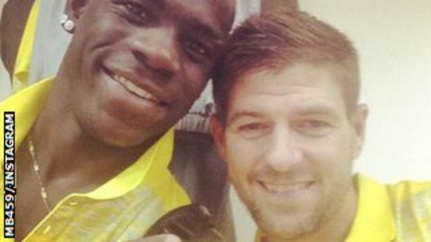 Mario Balotelli and Steven Gerrard