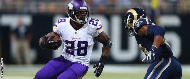 Adrian Peterson of the Minnesota Vikings